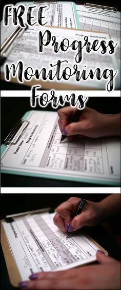 FREE Progress Monitoring Forms. Great for special education goals and objectives.