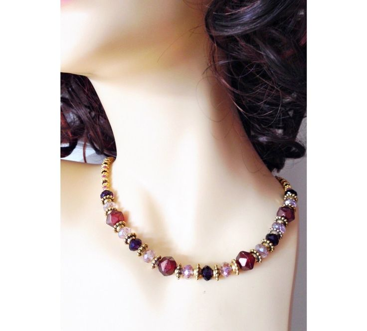 """Marsala red, purple, pink, and gold 18 - 20"""""""