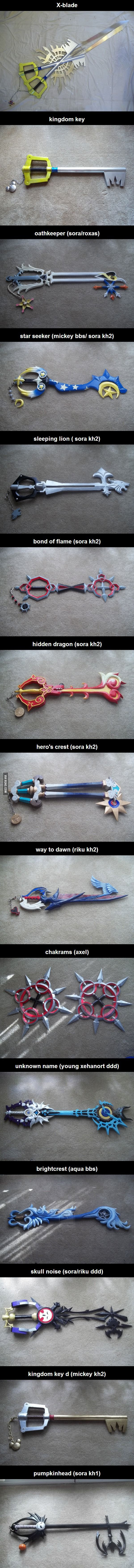 Keyblades (and chakrams). I want to own these keys
