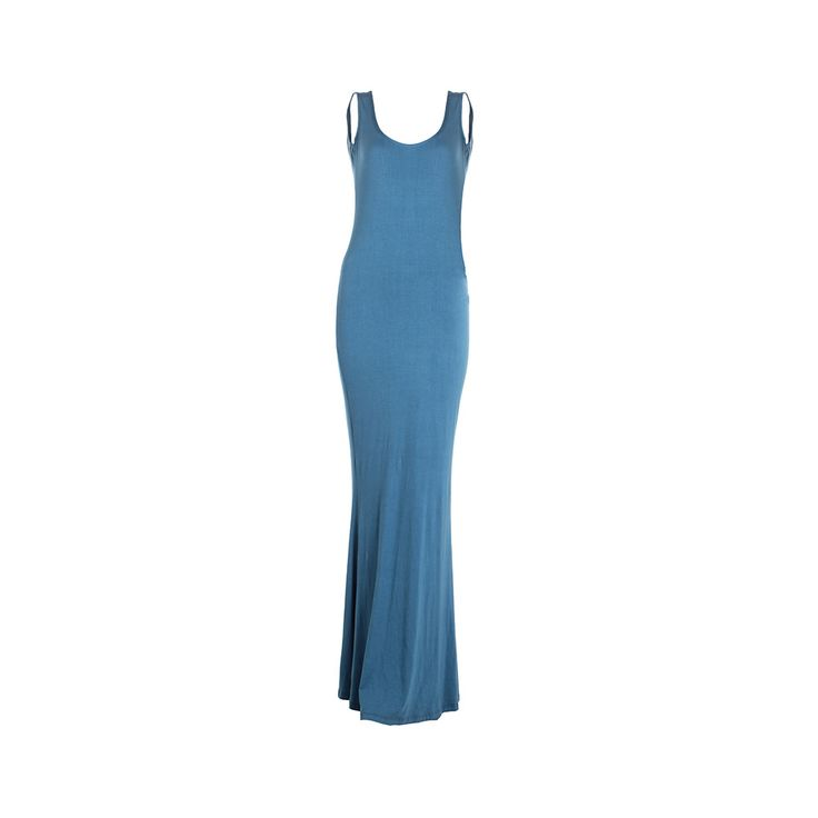 Vestido Largo Sirena Petroleo, Desbats, $28.000.
