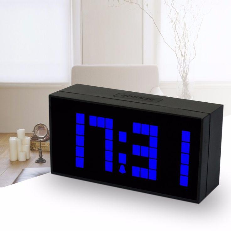 Ch KOSDA LED Digital relógio termômetro calendário relógio despertador soneca LED grande Jumbo de dígitos New alishoppbrasil