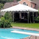 Fiesta frame tent by pool
