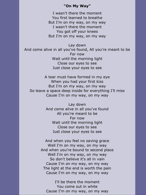 Boyce Avenue Lyrics To On My Way One Of My Favorite Songs