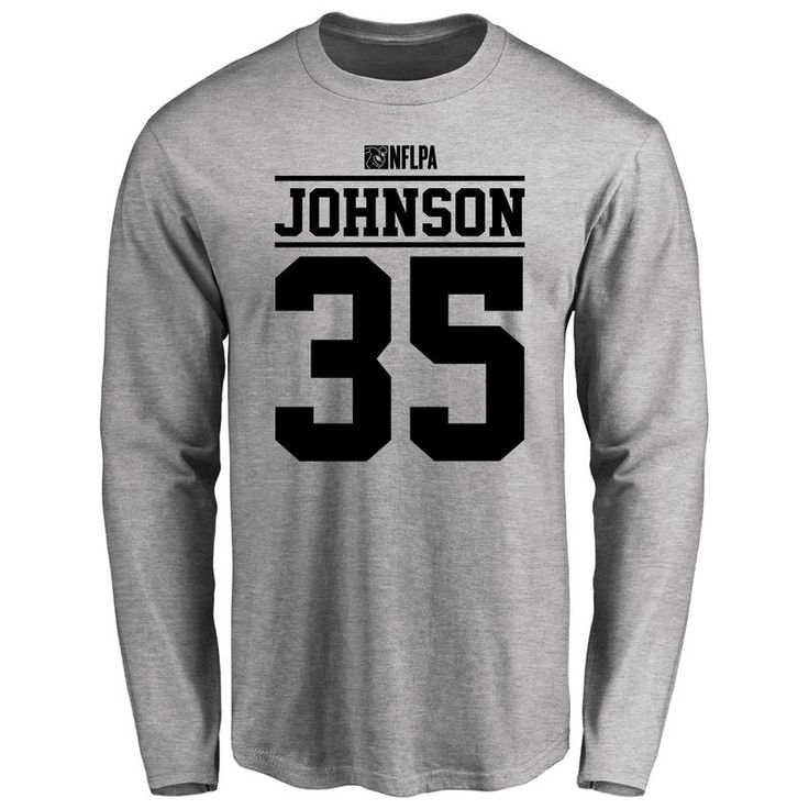 Austin Johnson Player Issued Long Sleeve T-Shirt - Ash