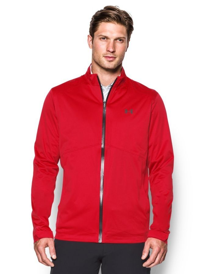 Enjoy ultimate comfort and waterproof protection with this great looking mens storm golf rain jacket by Under Armour!