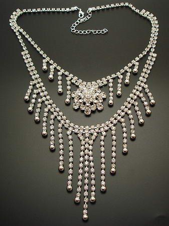 Czech Crystal Rhinestone Necklace | Strass Collier Crystal | Exklusivmodell *sc052 - JAUL.biz Perlen und Glas