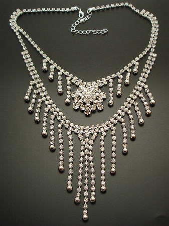 Czech Crystal Rhinestone Necklace   Strass Collier Crystal   Exklusivmodell *sc052 - JAUL.biz Perlen und Glas