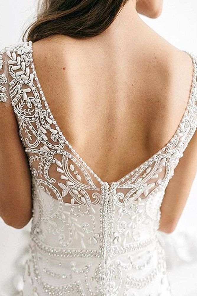 wedding dresses with feminine details 1