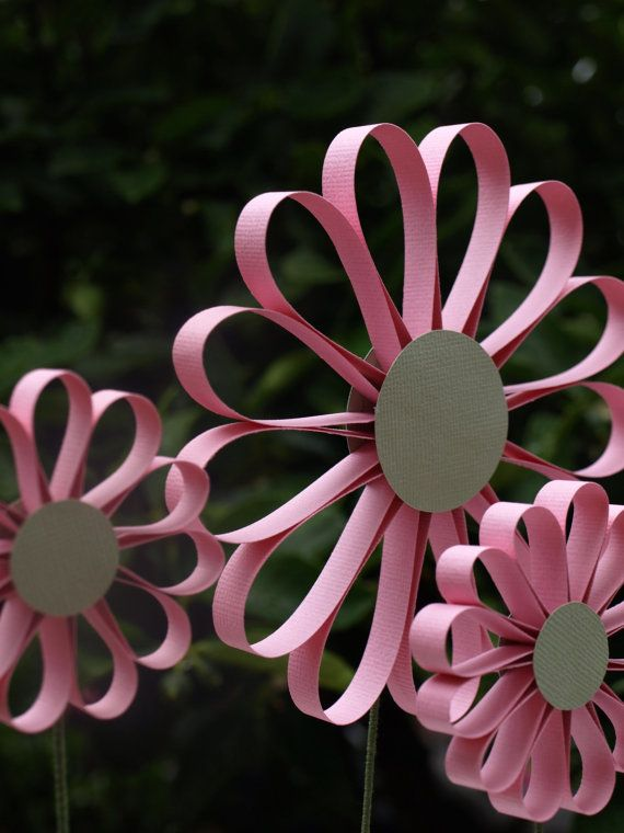 Lollypop Paper Daisy Candy Pink by PulpPetals on Etsy