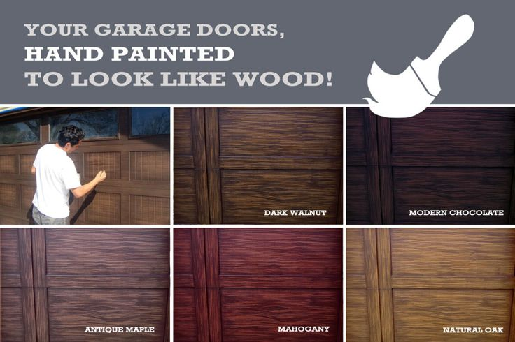 paint color that looks like wood in 2020 | Faux wood ... on Choosing Garage Door Paint Colors  id=57491