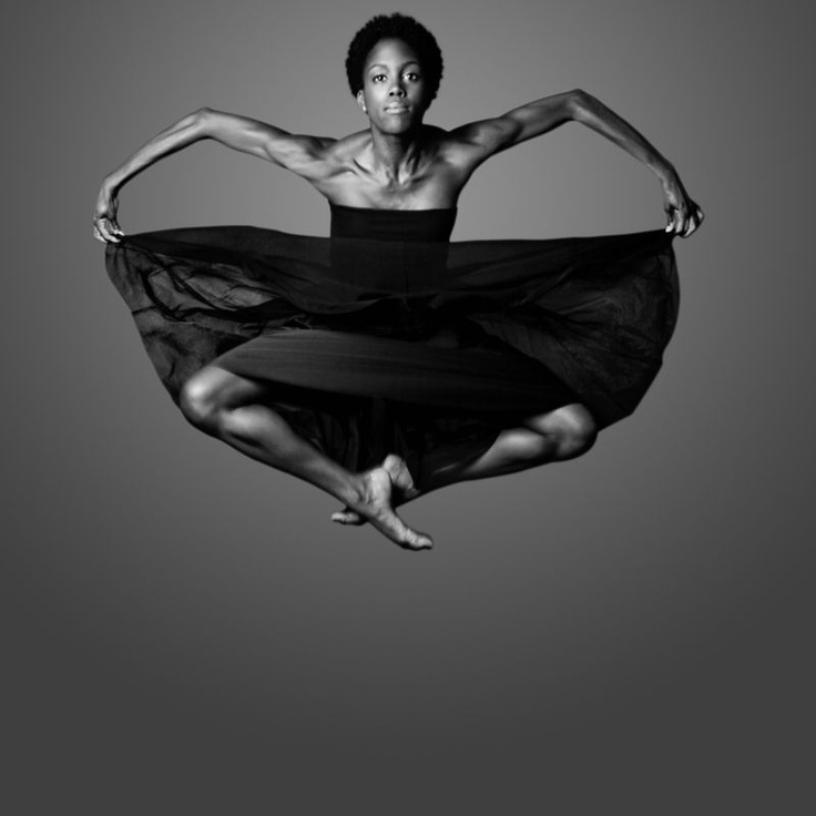 Paige Fraser - human flight is possible! Diagnosed with scoliosis at 12, she was advised to have an operation that would have destroyed her dreams of dancing. Her parents chose more natural remedies, and she has used Gyrotonics, therapy, yoga, massage, and chiropractors to achieve those dreams in the Ailey company.