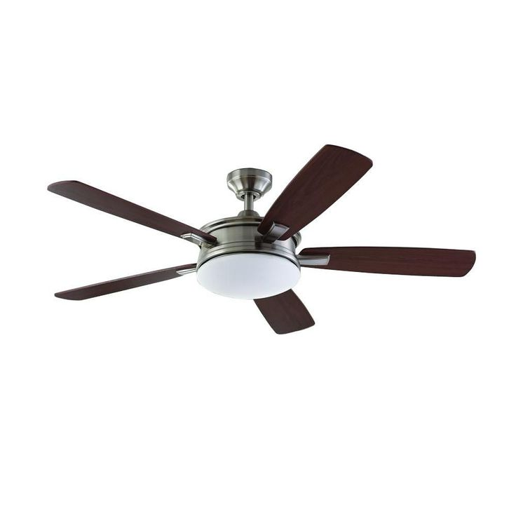 Home Decorators Collection Daylesford 52 in. LED Brushed Nickel Ceiling Fan-SW1478BN - The Home Depot