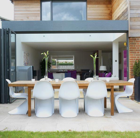 Modern White Patio - Outdoor Patio Design Ideas - Lonny