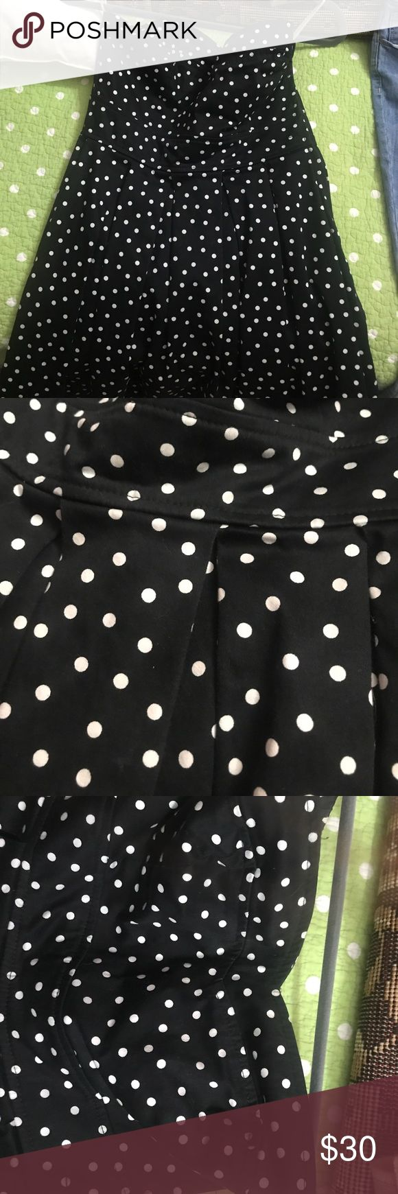 Lulu strapless polka dot dress 👗 Awesome short dress for that perfect cocktail party 🍸 Forever 21 Dresses Strapless