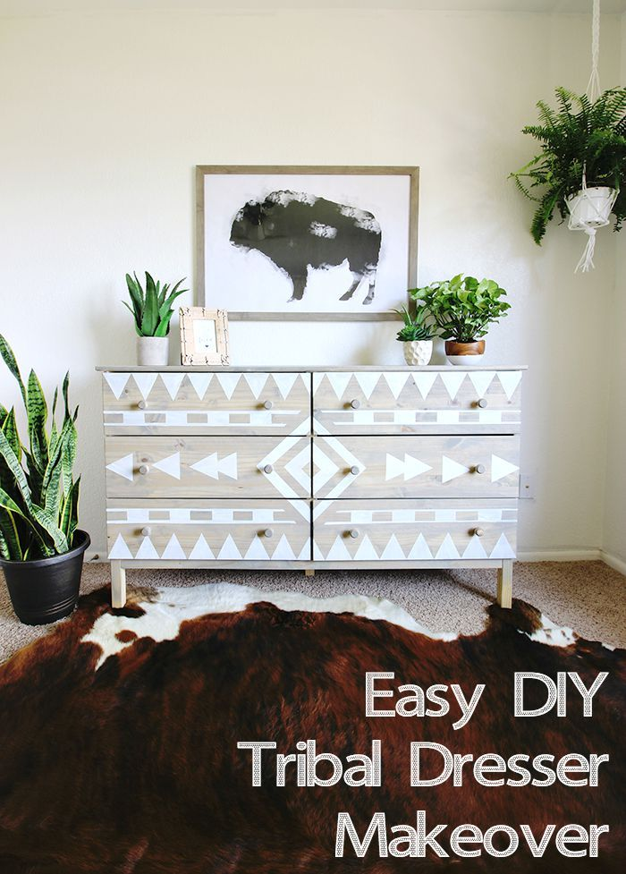 Diy Aztec Inspired Dresser Makeover And Nursery Sneak K Cly Clutter Furniture Pinterest Home Decor
