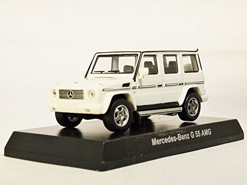 Japan Kyosho 1:64 Ratio Die-cast Car Mercedes-Benz AMG Minicar Collection G-Class G-Wagen SUV G 55 AMG White Color