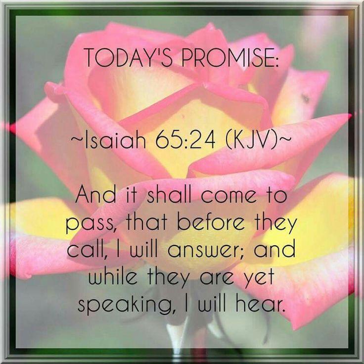Isaiah 65:24 KJV