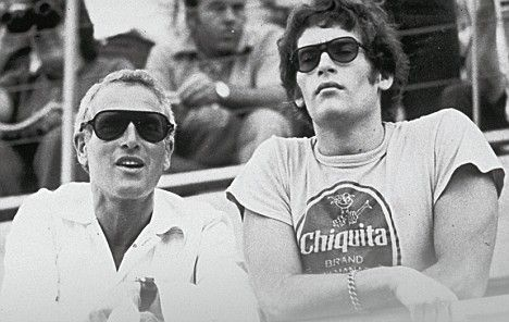 Paul Newman and son Scott Newman