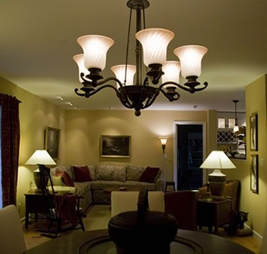 sitting room lighting. this is a chandelier for my living room it general lightingthe lamps are task lighting the floor lamp near doorway sitting