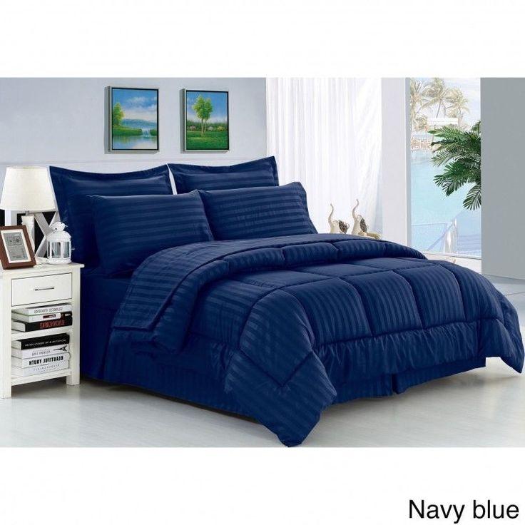 Down Alternative King Comforter Set Bed In A Bag 8 Piece Bedding Shams Sheets  #PalmCanyon #MidCenturyModern