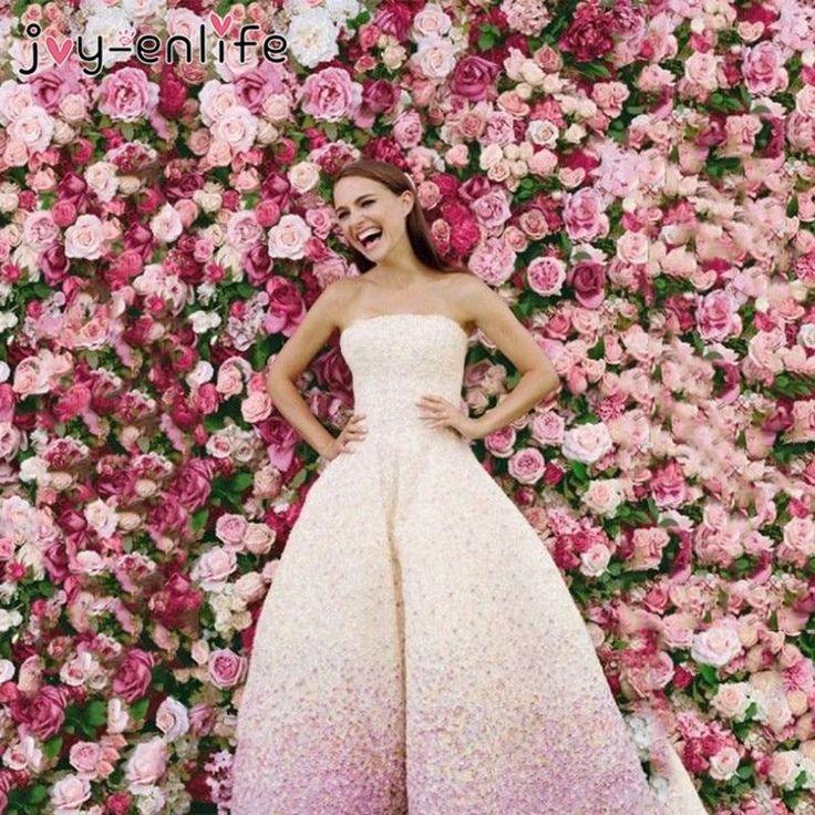 Flower Wall Romantic Wedding Decor Backdrop Artificial Silk Rose