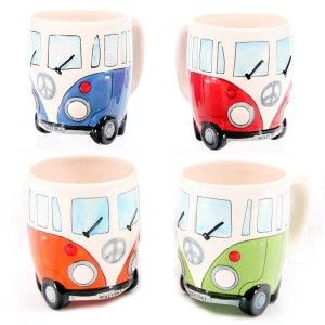 VW: Vw Campers Vans, Camps Ideas For Vw Bus, Coffee Cups, Vans Mugs, Vw Campervan, Vw Camper Vans, Vw Vans, Coffee Mugs, Bus Lovin