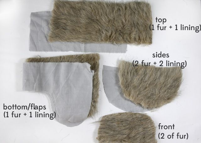 How to make faux fur trapper hat. need this in my life. might add pom pom and the braided rope thing