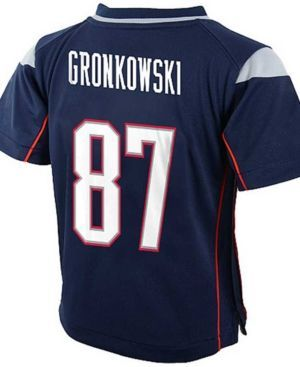 Nike Baby Rob Gronkowski New England Patriots Game Jersey - Blue 24M