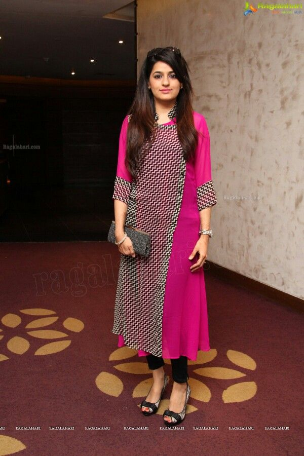 Lovely Indian Look Pink Color Cotton #Kurti . Get this on www.faaya.in