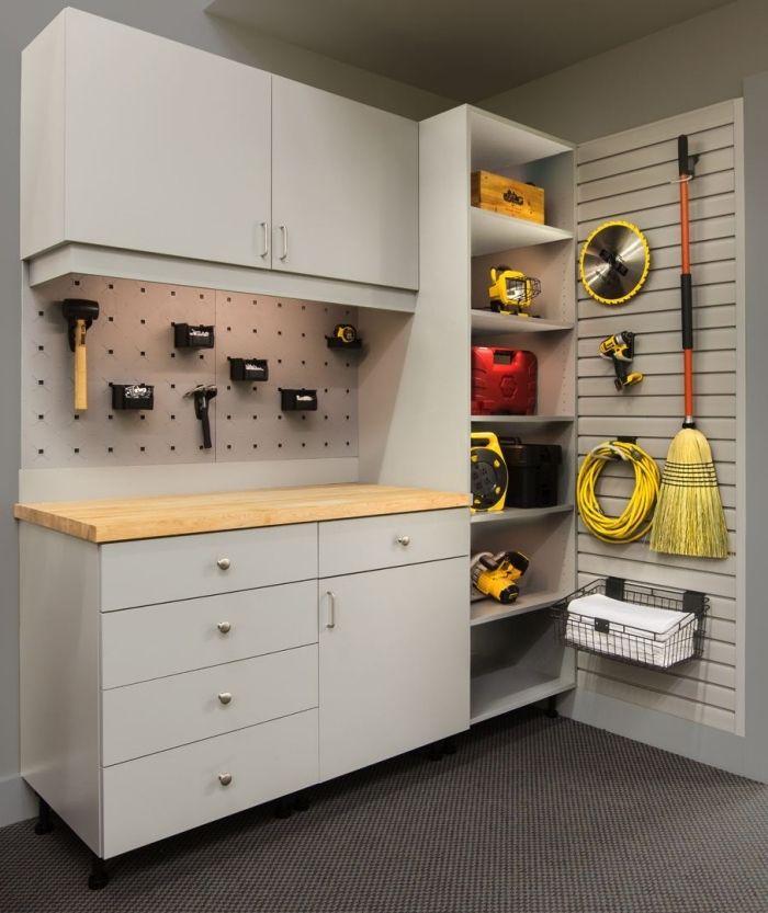 1001 Exemples D Amenagement Garage Fonctionnel Amenagement Garage Meuble Rangement Armoire Rangement