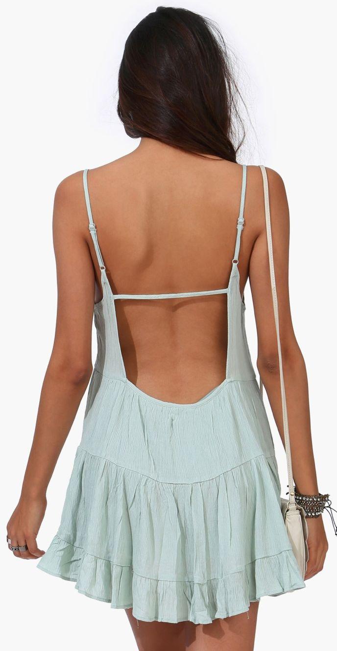 Misty Mint backless dress