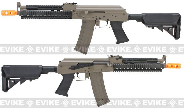 Lancer Tactical Full Metal Tactical AK Airsoft AEG Rifle - Tan, Airsoft Guns, Airsoft Electric Rifles, Other AEG - Evike.com Airsoft Superstore