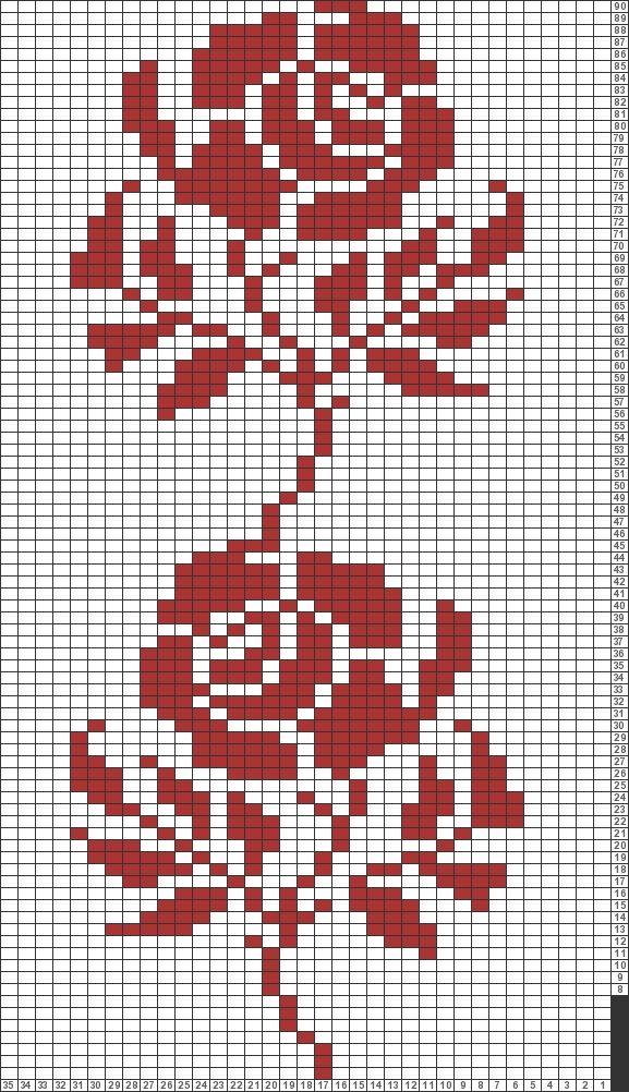 Tricksy Knitter Charts: rose chart by Ashley Nichole Davis