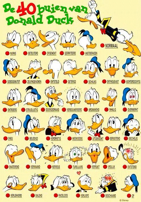 emotie: 40 buien van Donald Duck >>>>>>>>>>>>>>>>>>>>> Door je emoties te uiten, laat je aan anderen zien hoe het met je gaat. >>> Ontdek spelenderwijs de taal van emoties. TIP's op www.LEKKER-in-je-VEL-spel.nl