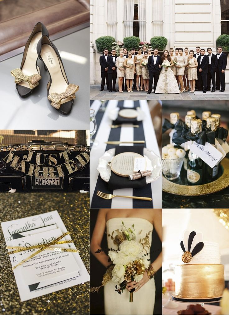 festive finds by Event Finds: Black & Gold Wedding Inspiration