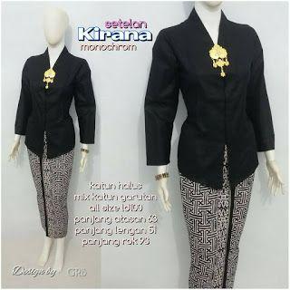 Baju Batik Kerja Wanita, Grosir Batik Solo, Baju Batik Pria: Kebaya Modern, Kebaya Monochrom, Kebaya murah