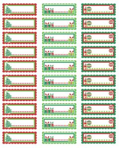 Imprimibles Gratis De Navidad  Address Label Templates Free