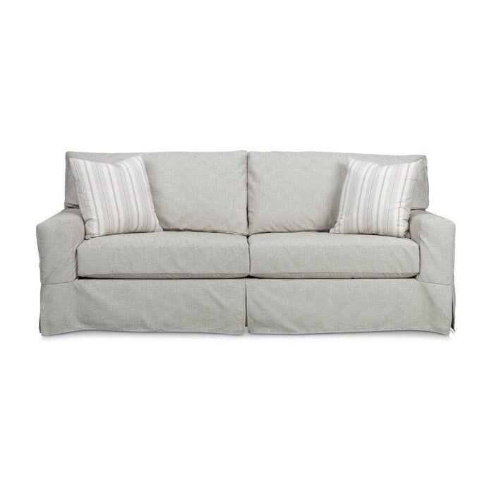 Stone Leigh Furniture Dawson 84 Square Arm Sofa Perigold In 2020 Slipcovered Sofa Slipcovers Sofa #slipcovered #living #room #sets