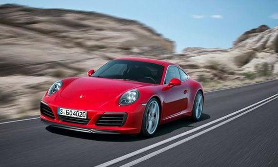 Спорткар Porsche 911 Carrera 2016 / Порше 911 Каррера 2016 – вид спереди