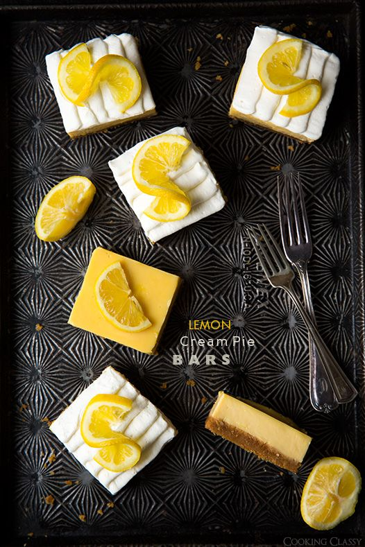 Lemon Cream Pie Bars - Cooking Classy