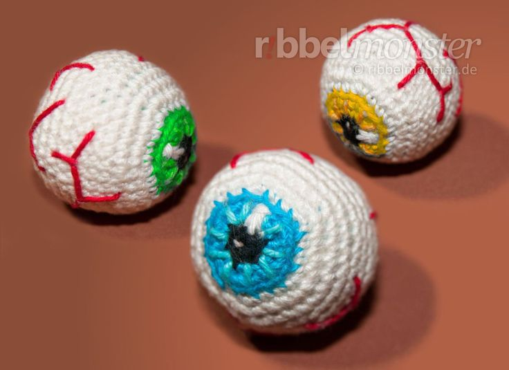 in this crochet pattern we will crochet an eyeball you can crochet the eyeball as a creepy halloween decoration or make a slightly different key chain