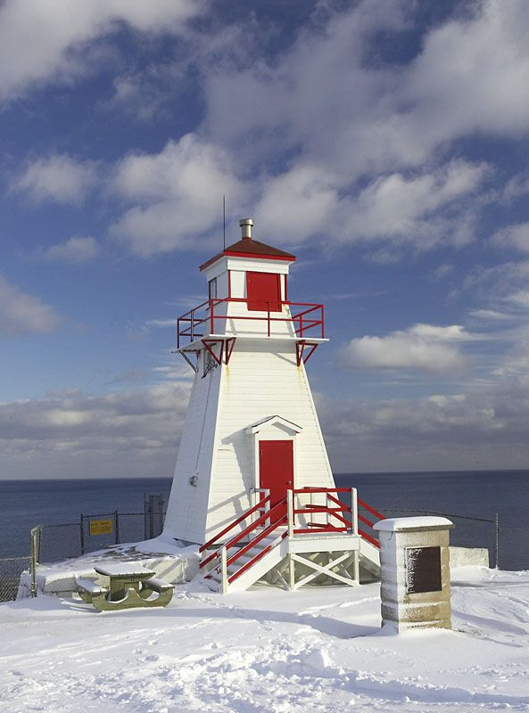 St Johns Harbour Light in Winter