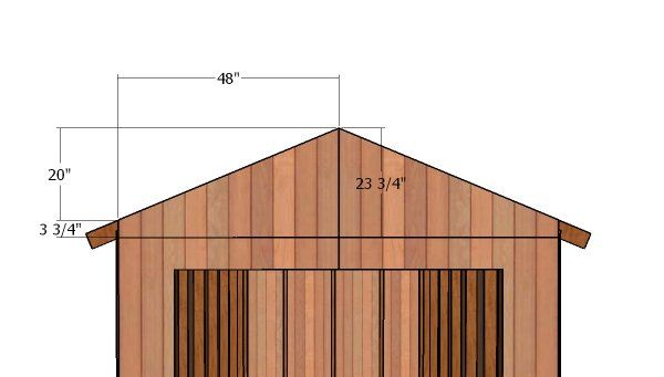 8x14 Gable Shed Roof Free Diy Plans Howtospecialist How To Build Step By Step Diy Plans In 2020 Shed Shed Roof Diy Plans