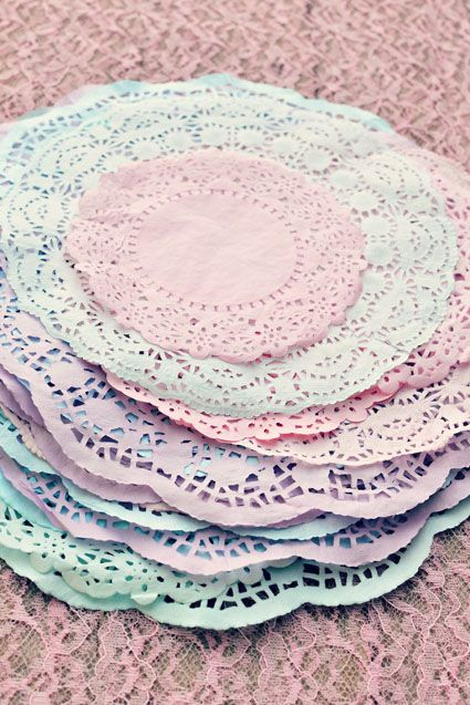 DIY Dyed Doilies Tutorial