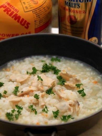 いちご煮リゾット:山めしレシピ 缶詰:山めし礼讃 - 山料理 山ごはん ... いちご煮リゾット。 20140326ichigoni-777