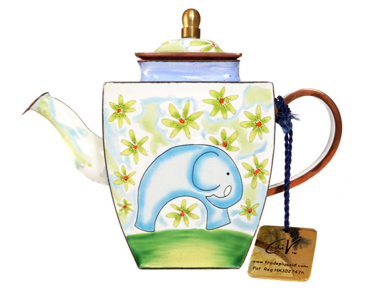 "Charlotte di Vita ""Elephant Days"" miniature teapot"