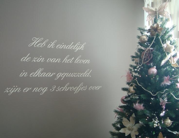 Wat n leuke tekst , 'maar zie ook de mooie versiering van de kerstboom