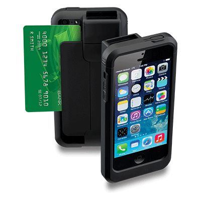 Linea Pro 6 iPhone 6 1D or 2D barcode scanners with magnetic stripe reader with Bluetooth and RFID options for mobile point of sale applications from Smart Mobile POS