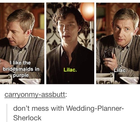I so love how seriously he took his job of Best Man. The friendship of John and Sherlock is truly beautiful.