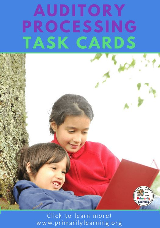 Check out the these 30 Auditory Processing Task Cards for easy to implement activities.
